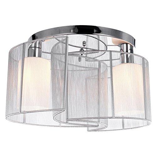 KJLARS Modern Deckenleuchte Deckenlampe Weiß Metall Leuchtmittel Schlafzimmer Wohnzimmer Büro Pendelleuchte