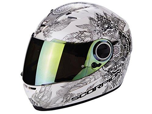 Scorpion Casco Moto EXO-490 Dream, White/Chameleon, M