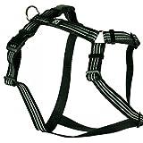 Feltmann Hundegeschirr - Soft-Nylonband Reflektierend schwarz, Bauchumfang 40-60 cm, 15 mm Bandbreite
