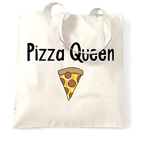 Pizza Queen I Love Pizza Food Girly Funny Slogan Cool Comfort Eating Cheese Pepperoni Crust Trend Hipster Shopping Tote Bag Cool Birthday Gift