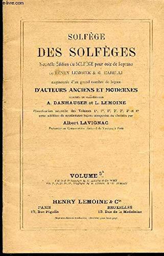 SOLFEGE DES SOLFEGES - VOLUME 3 A.