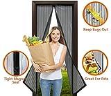 VAPIAO Tür Fliegengitter magnetischer Türvorhang für Balkontür, Terassentür, etc. Moskitoschutz Insektenschutz 210 x 100 m in Schwarz