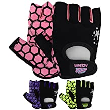AQWA guantes de levantamiento de peso guantes Fitness Training Ejercicio Mujer CrossFit Multi colores, lila / negro