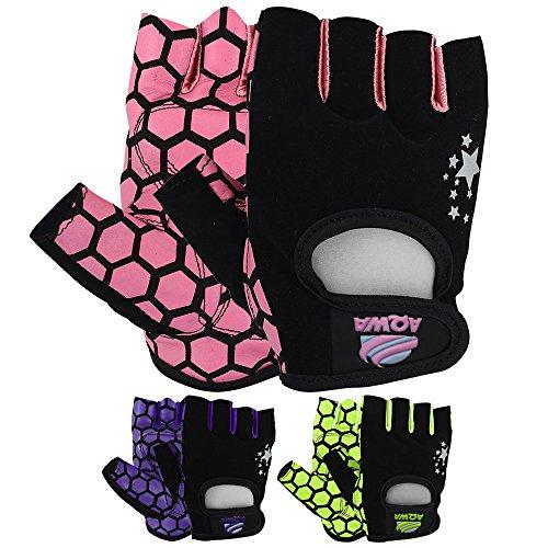 Guanto Aqwa donna guanti per sollevamento pesi da allenamento fitness esercizio crossfit multi colori, Pink / Black
