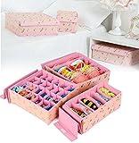 #10: Srxes underwear organizer drawer divider for wardrobe closet organisers-pink