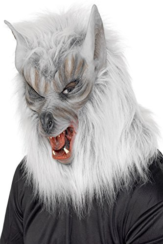 Smiffy's 25564 Wolfsmaske, (Halloween Großbritannien Kostüm Wolf)