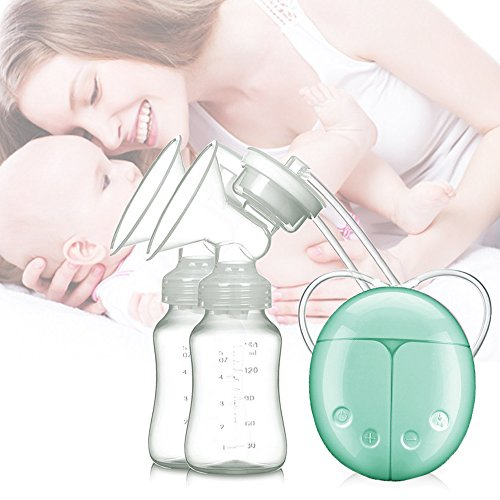 Silaite Breast Pump Electric Double Breast pumps Safe Milk Storage Bottle Dual Control Milk Suction and Breast Massager Breast Care USB Charging 514yXDlJ3RL