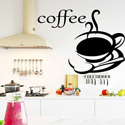 Kaffee Aufkleber Für Kaffee Haus Dekor Die küche dekoration Selbstklebende Vinyl Wasserdichte Wandkunst Aufkleber 43x49 cm