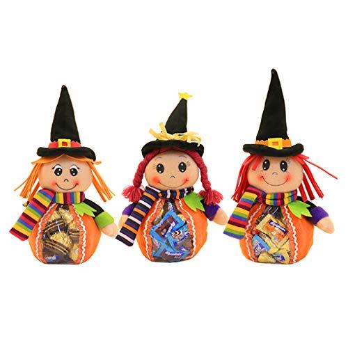 Freshsell Happy Halloween Hexen Puppe Süßigkeiten Geschenk Obstbeutel Reißverschluss Paket Aufbewahrung Party (Für Halloween Bulk-süßigkeiten)