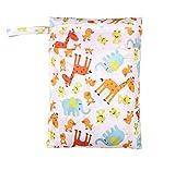 Comfysail Wickeltaschen Baby Kleinkind Wasserdicht Reißverschluss Tasche Waschbar Wiederverwendbar Stoff Windel Tasche Babytuchwindel Bunte Muster
