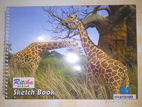 RITIKA Sketch Book A4 Size with Butter Paper 60 Pages