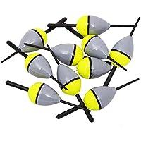 2516d761d LSERVER 10 pezzi pesca galleggiante in sughero galleggiante in legno di  balsa illuminato FL6
