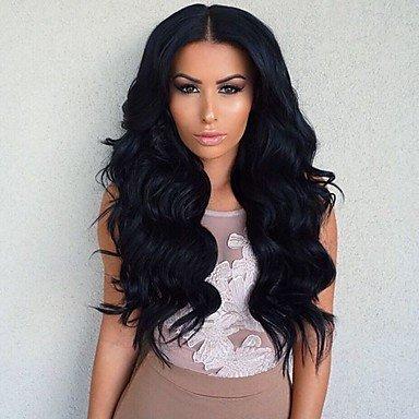 billig zum Verkauf lang brasilianische Menschen reines Haar glueles Spitze frontseite Perücke schwarze (Haare Verkauf Zum)