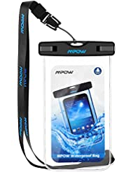 Waterproof Case, Mpow Universal Durable Underwater Dry Bag, Touch Responsive Transparent Windows,Watertight Sealed System for iPhone 7/6s/6s plus/5/5s/SE and Other Smartphone for Boating/Hiking/Swimming/Diving