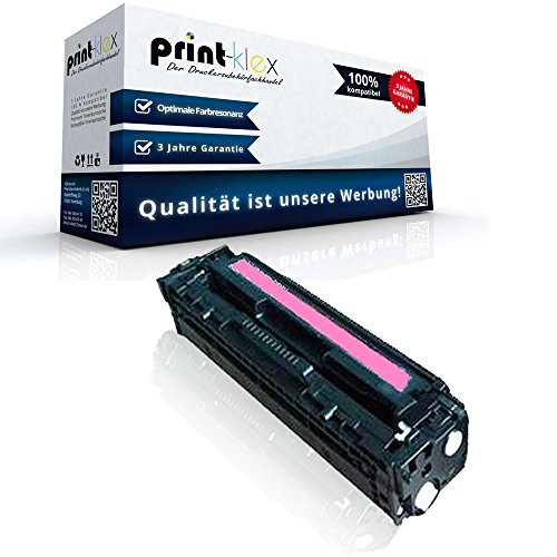 Color Laserjet Print Cartridge (Print-Klex Kompatible Tonerkartusche für HP Color LaserJet CP2025N Color LaserJet CP2025Series Color LaserJet CP2025X CE323A 128A Rot Magenta - Drucker Pro Serie)