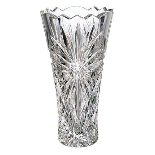 Cristal de Bohemia Böhmischen Glas Vase, Glas, 10x 10x 18cm