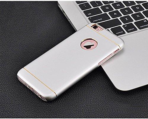 Besta Curved Slim couvercle en métal Aluminium + Inner Case TPU souple pour iphone5 5s/iPhone SE,Housse de protection pour haute qualité Apple iPhone 5 5s/iPhone SE -Gris A/Silver