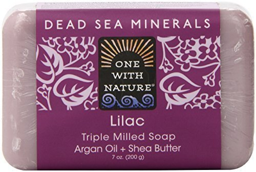 One With Nature Lilac Dead Sea Mineral Soap, 7 Ounce Bar by NATURE'S BEST