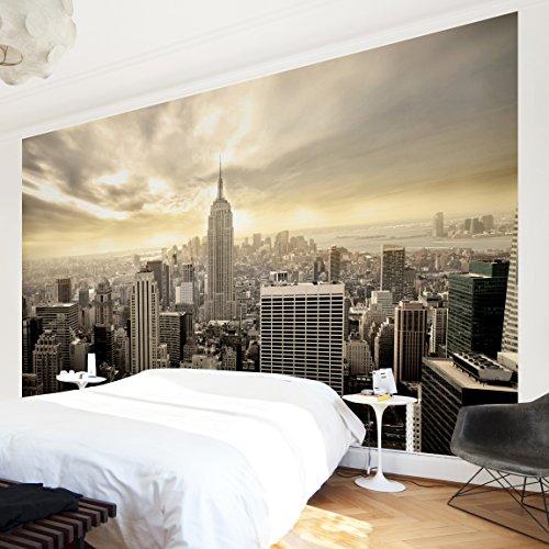Preisvergleich Produktbild Vliestapete Premium - Manhattan Dawn - Fototapete Breit Vlies Tapete Wandtapete Wandbild Foto 3D Fototapete, Größe HxB: 320cm x 480cm