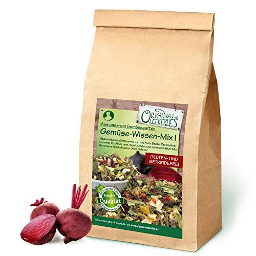 Original-Leckerlies: Gemüse-Wiesen-Mix I 500g, Premium Qualität*** – getreidefrei – Kaninchenfutter, Nagerfutter, Meerschweinchenfutter, 100{ffb19a2e553526da6200004fdfcbe829a87a4d9f2e774e2de684432a13812276} Naturprodukt für Nager mit Gemüse und Kräutern