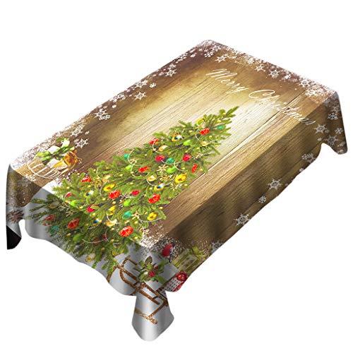 Tisch SchutzhüLle Tischdecke Tischdeko Weihnachten Ideen Tisch Weihnachtlich Dekorieren Beschichtet Wasserabweisende Tischdecke Tafeldecke TischläUfer Esstisch Bunt Wohnzimmertisch Gartentischdecke