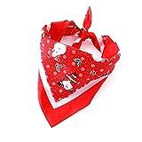 Ranphy Kopftücher für Hunde Weihnachten Hunde-Halstuch Haustier Kopftuch Lätzchen Schal Weihnachtsmann Schneemann Tuch Bandana Nicki-Halstuch Hundehalsbänder Kostüme für Große Hunde