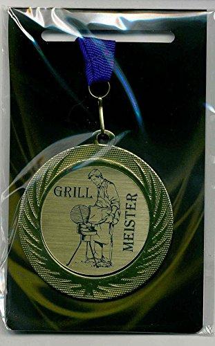 Edle Medaille/Auszeichnung mit Lasergravurschild und blauem Umhängeband
