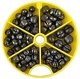 Angel Bleischrot Dose Klemmblei 120 g Inhalt. Mittel oder Grob, Bleigewichte:Mittel