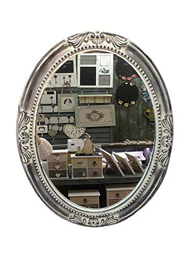 GMMH Charmanter Landhaus Holz Wandspiegel 18-2 Spiegel antik Garderobenspiegel Flurspiegel Barock