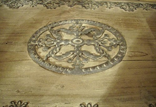Wunderschöne Holztruhe mit Ornamenten, 81x38x41cm - 2