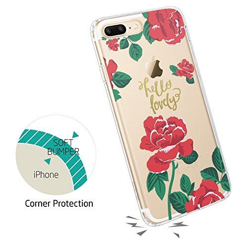 ESR iPhone 8 Plus Hülle, iPhone 7 Plus Hülle, [Weiche TPU Rahmen, Hartem PC Rückdeckel] Kaktusmotiv Schutzhülle für Apple iPhone 8/7 Plus 5.5 Zoll 2017 Freigegeben. (Kaktus) Rosen