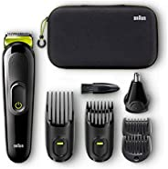 Braun MGK 3921 TS All-in-One Trimmer, 6-in-1 Styling Kit with Hard Case, Black