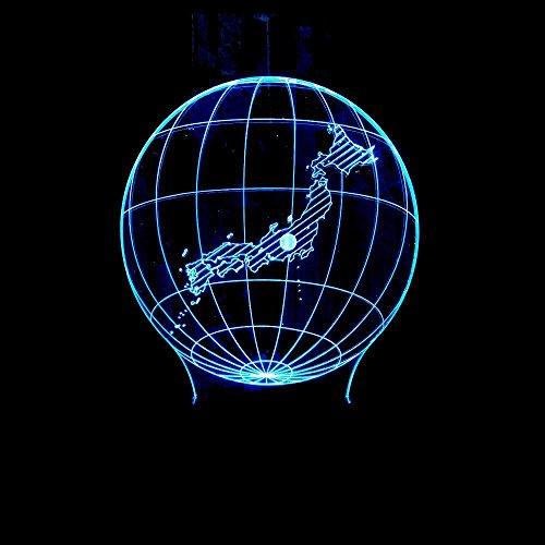 Luziang Kinder nachtlicht,Kreative stereoskopische 3D-Vision Fernnachtlicht Karte Herstellung von Acryl-3D Kleiner Tischlampe berühren
