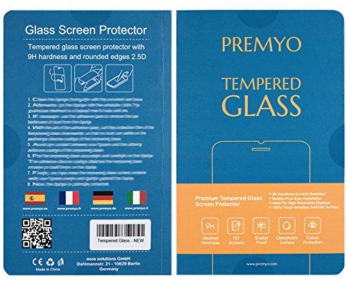 PREMYO Sony Xperia Z3 Panzerglas. Sony Xperia Z3 Displayschutzfolie mit Härtegrad 9H und abgerundeten Ecken 2,5D. Sony Xperia Z3 Schutzglas - 9