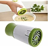 Cpixen Stainless Steel Herb Kitchen Tool Set, Green And White