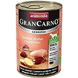 Animonda GranCarno Hundefutter Sensitive Adult Reines Huhn + Kartoffeln, 6er Pack (6 x 400 g)