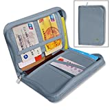 #6: House of Quirk Canvas Grey Passport Wallet