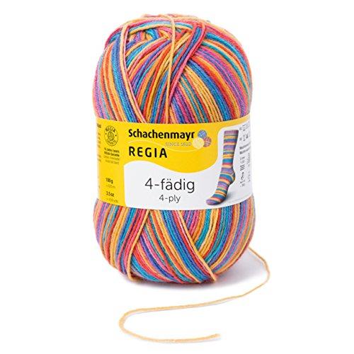 Regia 4-Fädig Color 9801269-03726 Exotic Handstrickgarn, Sockengarn, 100g Knäuel (Superwash-wolle-socke-garn)