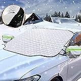 Sporgo Frontscheibenabdeckung Winter Scheibenabdeckung Auto Eisschutz Windschutzscheibe Abdeckung Magnet Fixierung Faltbare Abnehmbare für die Windschutzscheibe gegen Schnee, EIS, Frost, Staub, Sonne