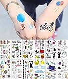 Pegatinas de Tatuajes temporales para niñas y niños, 31 Hojas Tatuajes para recompensas Escolares Juegos Familiares Divertidos, Regalos para niños Decoraciones para Fiestas No tóxicos