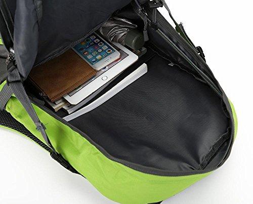 Bergsteigen Tasche mit großer Kapazität Outdoor-Camping-Rucksack Freizeit Rucksack Schulschüler Paar Rucksäcke Schwarz