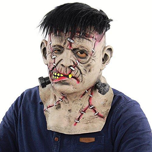 Weehey Latex Voller Kopf Hals Toothy Blutige Freak Maske Scary Creepy Maske für Halloween Maskerade Kostüm Cosplay Party - Freak Kostüm Party