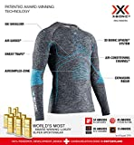 X-Bionic Energy Accumulator 4.0 Melange Round Neck Long Sleeves, Strato Base Camicia Funzionale Uomo, Dark Grey Blue, XL
