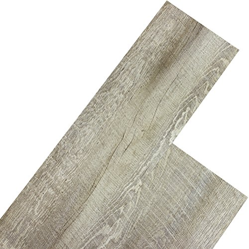 STILISTA Vinyl Laminat Dielen, 15 Dekors wählbar, 5,07m² oder 20m², rutschfest, wasserfest, schwer entflammbar - 5,07m² Eiche rustikal