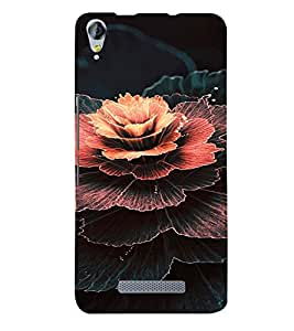 PrintVisa Flower Design 3D Hard Polycarbonate Designer Back Case Cover for Micromax Juice 3 Plus