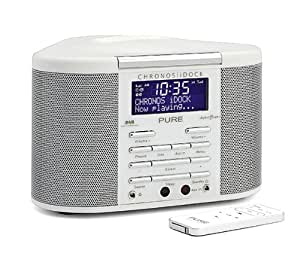 PURE Chronos iDock DAB/FM Radiosveglia con Docking Station per iPod, colore: Bianco