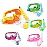 Bazaar Kinder Professionelle Silikon Taucherbrillen Set Gläser Maske Schwimmen Tauchen Schnorchel Atem Tub