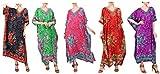 Miss Lavish London Frauen Damen Kaftan Tunika Kimono Freie Größe Lange Maxi Party Kleid für Loungewear Urlaub Nachtwäsche Strand Jeden Tag Kleider Knickente EU 38-44