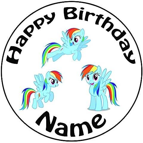 Personalizzato My Little Pony Rainbow Dash–Topper per