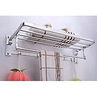 ZHGI Spesso lo spazio in grassetto in alluminio attività di piegatura porta asciugamani con scorrimento appendiabiti cinque file di ganci
